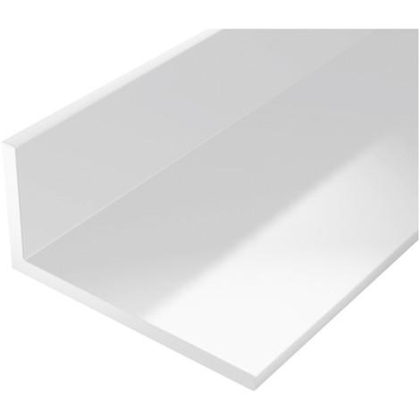 Profilé angle plastique 2000/20x10mm blanc