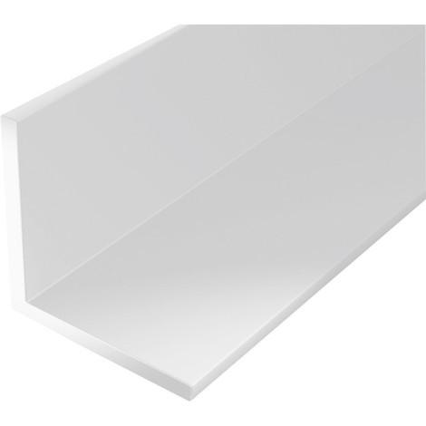 Profilé angle plastique 2000/20x20mm blanc