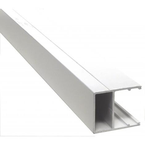 Profilé bordure U 32 mm - 4000 mm - Coloris - Blanc RAL 9010, Epaisseur - 32 mm, Longueur - 4 m