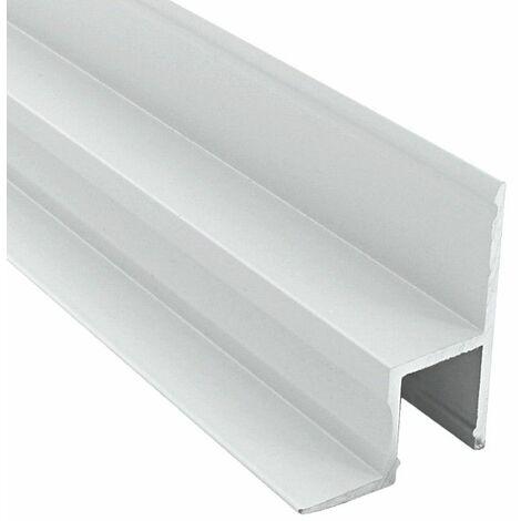 Profilé cornière de plafond & mur aluminium laqué blanc pour ruban LED (B01) | Diffuseur Givré - Longueur du profilé 1 m