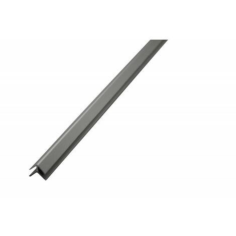 Profilé d'angle aluminium pour crédence 2050 mm x 3 mm - Coloris - Alu, Epaisseur - 3 mm, Longueur - 2050 mm