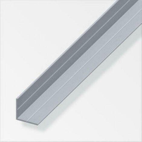 Profilé d'angle de 2,5 mt en aluminium naturel, couleur naturelle, avec 25592 rainures
