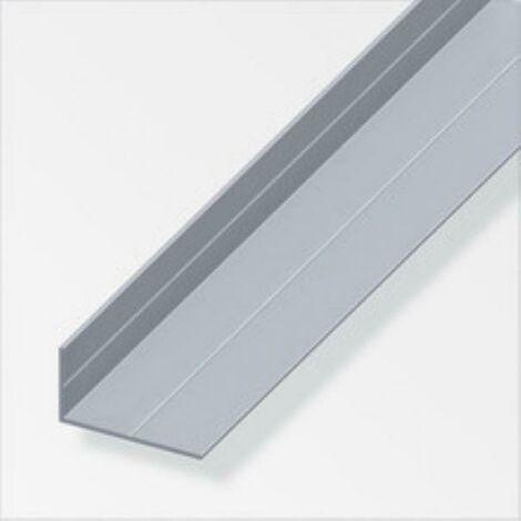 Profilé d'angle de 2,5 mt en aluminium naturel, couleur naturelle, avec 25670 rainures