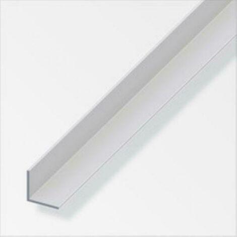 Profilé d'angle de 2mt en aluminium anodisé, couleur argent 05044