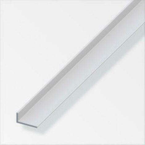 Profilé d'angle de 2mt en aluminium anodisé, couleur argent 05053