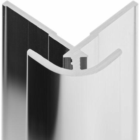 Profilé d'angle extérieur pour panneau mural de douche, 210 cm, DécoDesign, Schulte, différents décors au choix