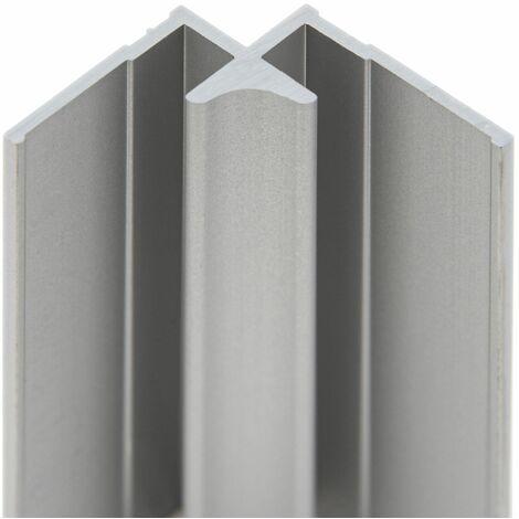 Profilé d'angle intérieur pour panneau mural de douche, 210 cm, DécoDesign, Schulte,Anthracite