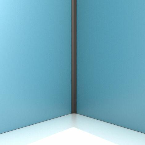 Profilé d'angle NOIR MAT pour panneau mural - 15x15x2100 mm – CORNER MURAL NOIR MAT