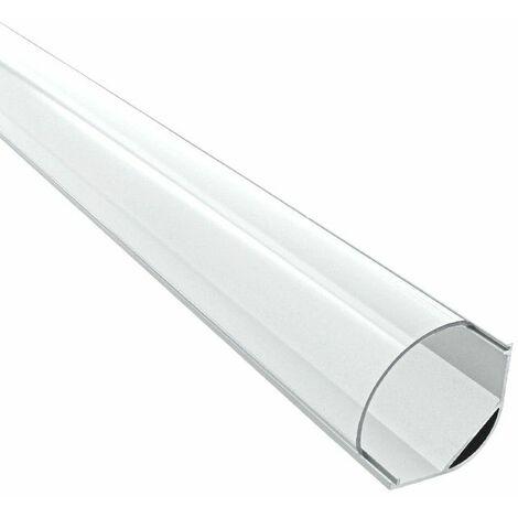 Profilé d'angle pour ruban LED en aluminium + diffuseur (Craft A04) | Diffuseur Transparent - Longueur du profilé 1 m - Finition Aluminium - Pour taille de ruban (en mm) 20