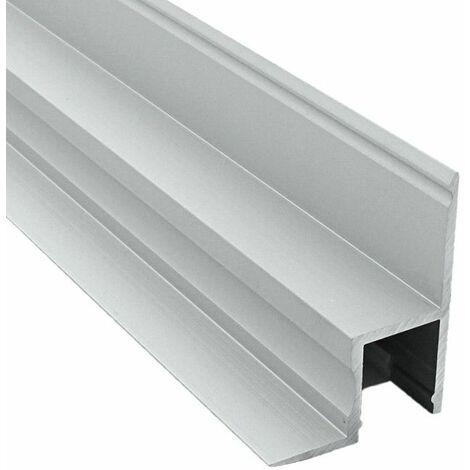 Profilé de cornière et plafond en aluminium pour ruban LED en aluminium + diffuseur (Craft B01) | Diffuseur Givré - Longueur du profilé 2 m