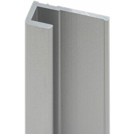 Profilé de finition pour panneau mural de douche, 210 cm, DécoDesign, Schulte,Anthracite