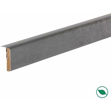 Profilé de transition rénovation d'escalier stratifié dark grey 1300 x 56 x 12 mm