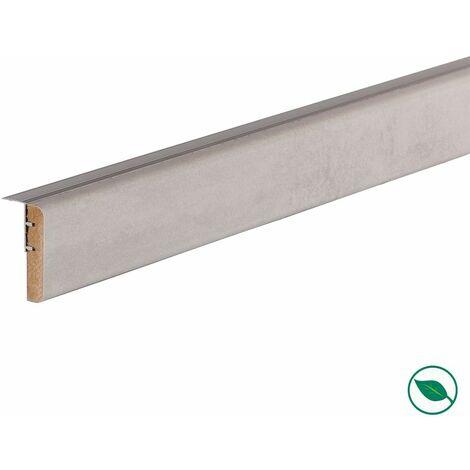 Profilé de transition rénovation d'escalier stratifié light grey 1300 x 56 x 12 mm