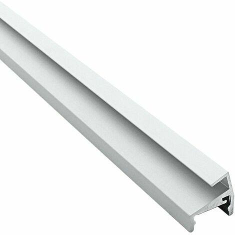 Profilé d'étagères en verre pour ruban LED aluminium - 6mm - (Craft V01) | Diffuseur Transparent - Longueur du profilé 1 m - Finition Aluminium - Pour taille de ruban (en mm) 13
