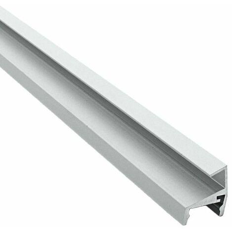 Profilé d'étagères en verre pour ruban LED aluminium - 8mm - (Craft V02) | Diffuseur Transparent - Longueur du profilé 1 m - Finition Aluminium - Pour taille de ruban (en mm) 13