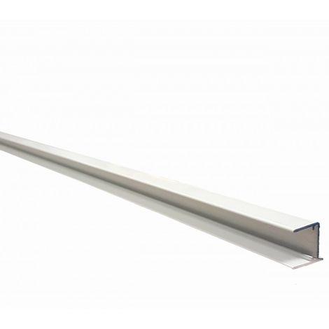Profilé d'obturation pour plaque polycarbonate alvéolaire 16 mm laqué blanc ou gris L 98 cm