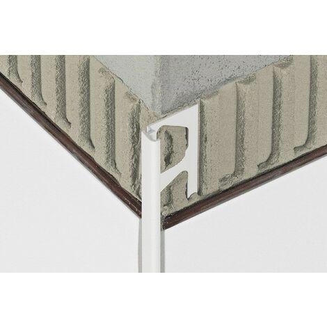 Profilé droit pour revêtements muraux JOLLY P - PVC Blanc brillant - Hauteur 8 mm - Barre de 2,5 M - Prix au ML