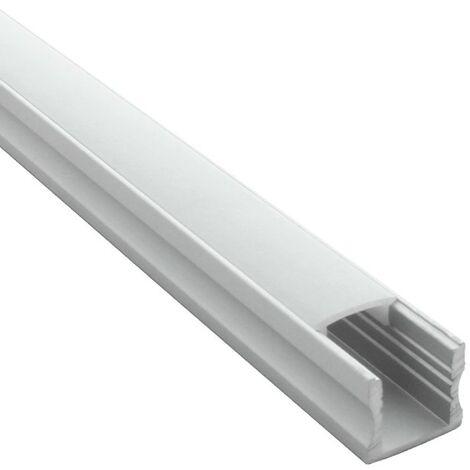 Profilé en applique pour ruban LED + diffuseur (Craft C03) | Diffuseur Givré - Longueur du profilé 1 m