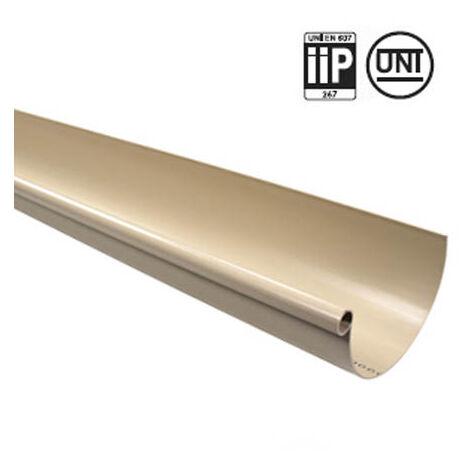 Profile gouttière PVC 25 demi-ronde en 4ml