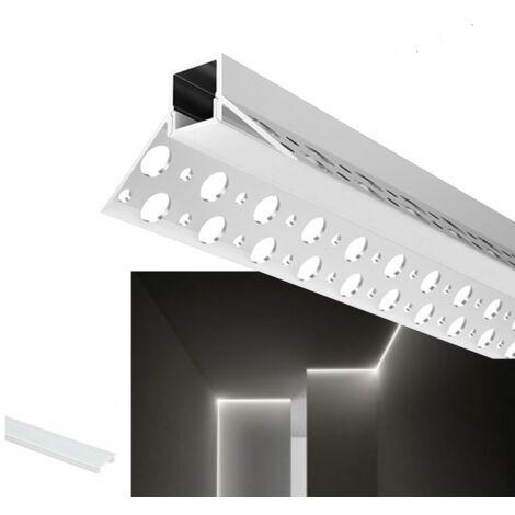 Profilé intégration placoplâtre d'angle intérieur 46x26 (2m)