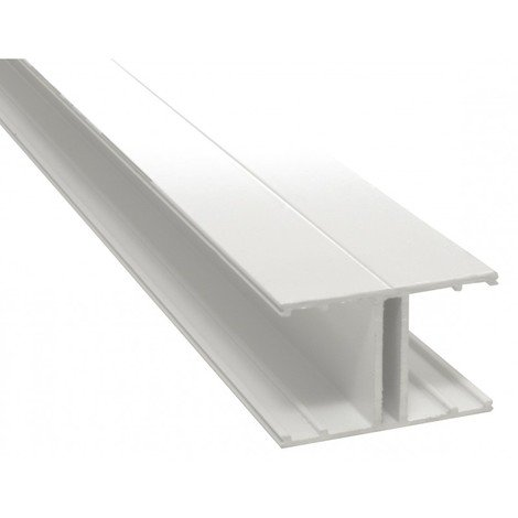 Profilé jonction H 32 mm - 4000 mm - Coloris - Blanc RAL 9010, Epaisseur - 32 mm, Longueur - 4 m