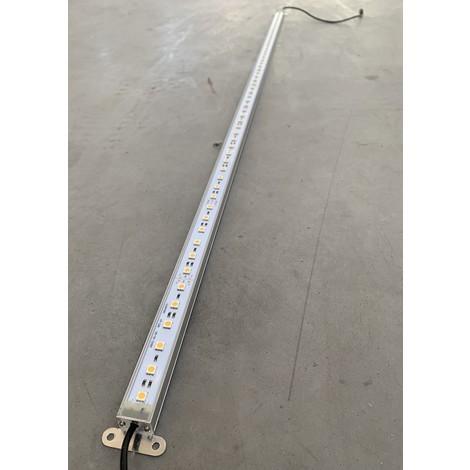 Profilé LED 12W alu rigide de 1m lumiere blanc chaud 2700K 1200lm alim 24VDC (non incl) dimmable IP20 PROFILIGHT 1M-2700K