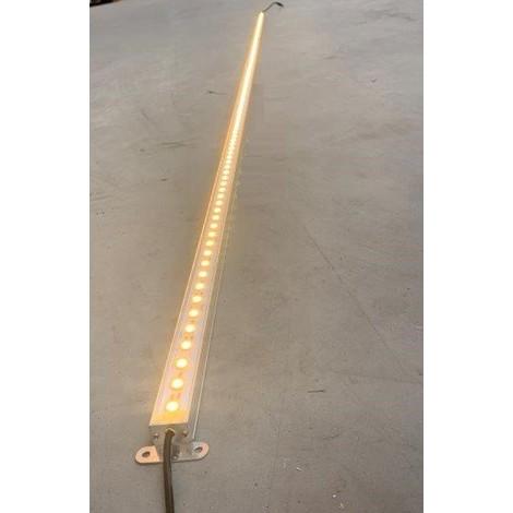 Profilé LED 24W alu rigide de 2m lumiere blanc chaud 2700K 2400lm alim 24VDC (driver non incl) dimmable IP20 PROFILIGHT 2M-2700K