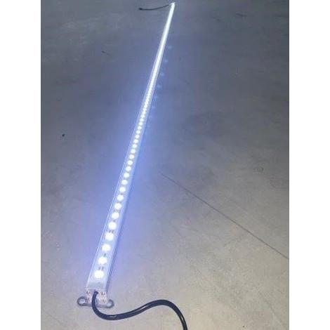 Profilé LED 24W rigide de 2m lumiere blanc froid 9000K 2400lm alim 24VDC (driver non incl) dimmable IP20 PROFILIGHT 2M-9000K