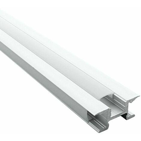 Profilé LED - aluminium 3 directions (CRAFT M03) | Diffuseur Givré - Longueur du profilé 2 m