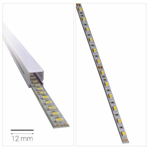 Profilé LED - aluminium plat (CRAFT P01) | Longueur du profilé 2 m