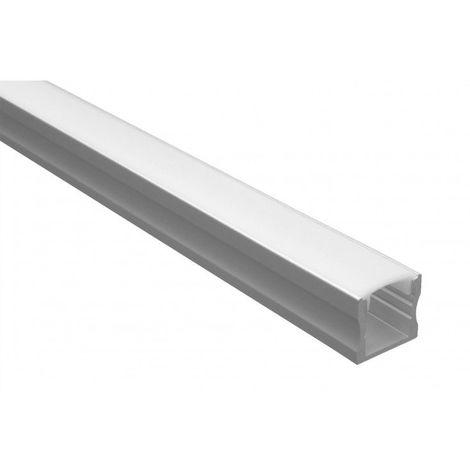 Profilé LED aluminium - Série U15 - 1,5 mètre - Diffuseur opaque