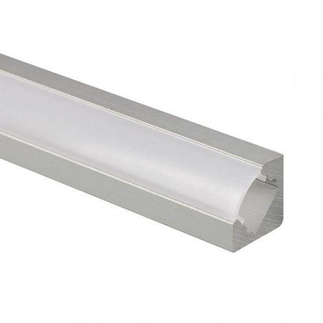 Profilé LED d'angle - Série V19 - 1,5 mètre - Aluminium - Diffuseur opaque