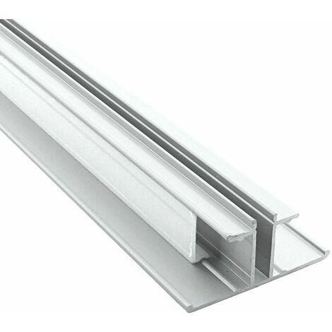 Profilé LED de corniche en aluminium 2 directions + diffuseur givré (craft M04) | Longueur du profilé 2,95 m