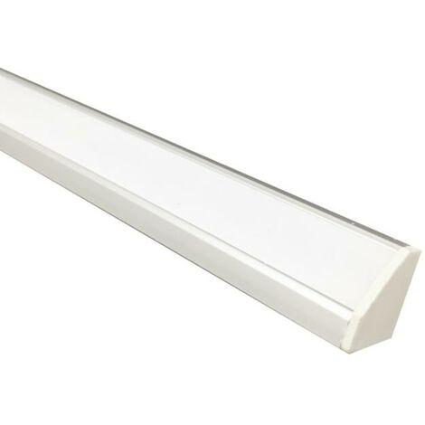 Profilé LED intégré 60cm 7.5W 12V Angle avec capteur infrarouge - Blanc Neutre 4000K - 5500K - SILAMP