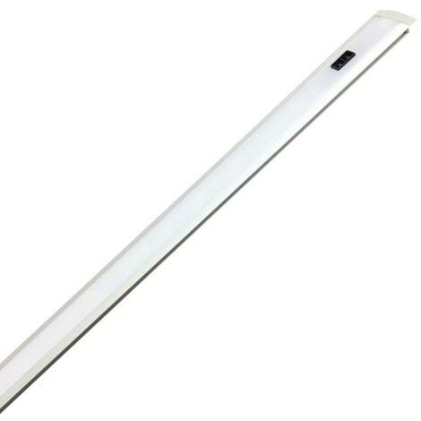 Profilé LED intégré Encastrable 40cm 5W 12V avec capteur infrarouge - Blanc Neutre 4000K - 5500K