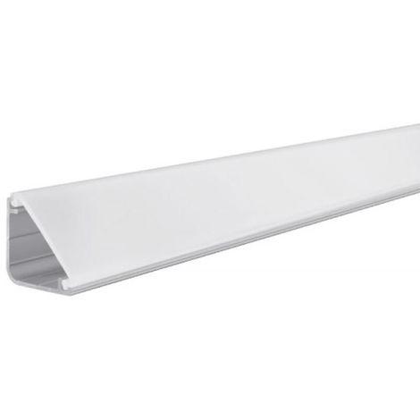 Profilé LED plinthe et diffuseur Delta 1m alu