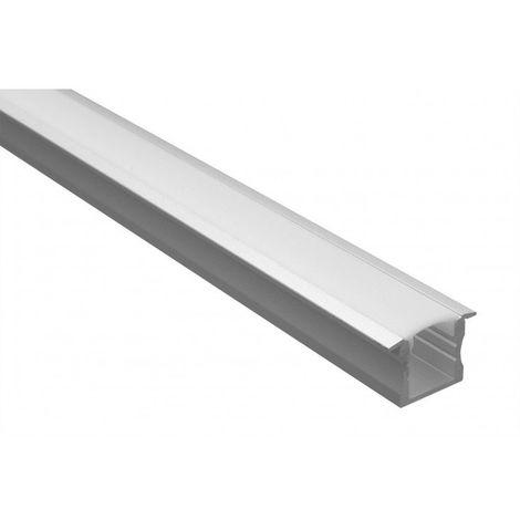 Profilé LED - Serie T15 - 1,5 Mètre - Diffuseur Opaque