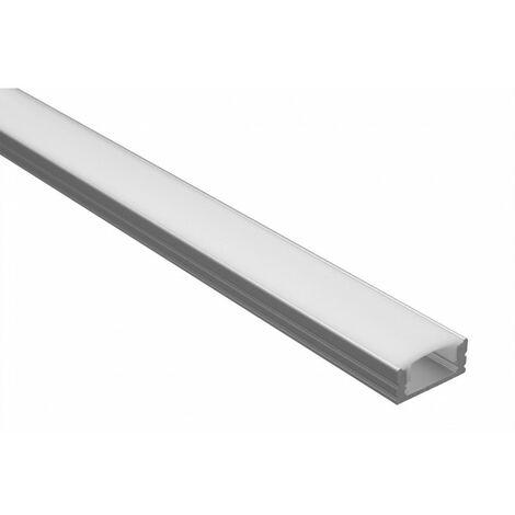 Profilé LED - Serie U07 - 1,5 Mètre - Diffuseur Opaque