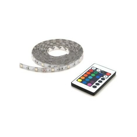 Profile LED Tape with Remote Control, IP44, 2m, Red/Green/Blue