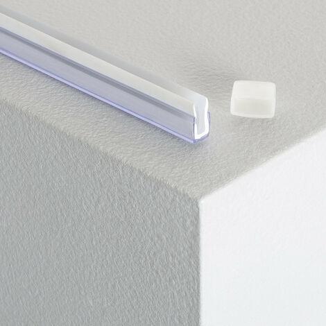 Profilé Polycarbonate pour Ruban Néon LED 24V DC .Transparent........................... - Transparent