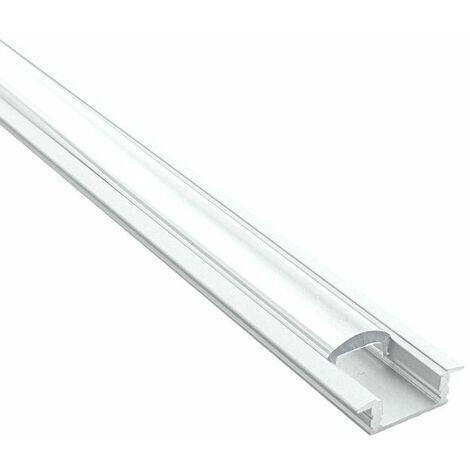 Profilé pour LED aluminium encastrable à diffuseur focalisé (craft E07)   Diffuseur Transparent - Longueur du profilé 2,95 m - Finition Aluminium - Pour taille de ruban (en mm) 11