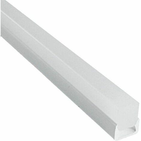 Profilé PVC étanche pour ruban LED + diffuseur givré épais (craft O02) | Longueur du profilé 2 m