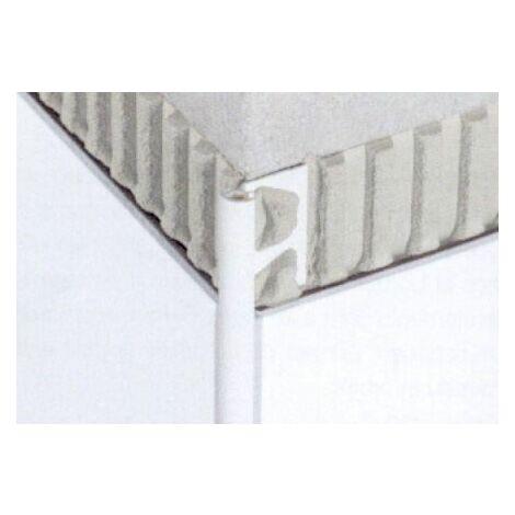 Profilé PVC quart de rond pour revêtement muraux RONDEC PRO - PVC Blanc brillant - Hauteur 10 mm - Barre de 2,5 ML - Prix au ML