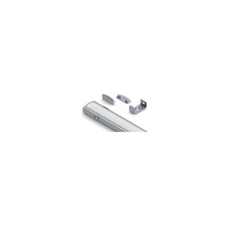Profilé SLW8 Plat (8mm) pour Ruban Large jusqu'à 20mm Longueur 1m