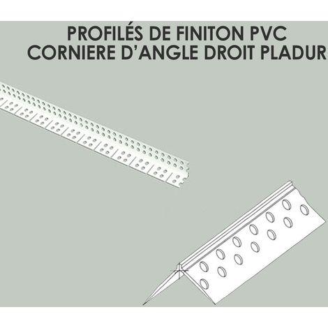 Incroyable Profilés de finition PVC Cornière d'angle droit Pladur | 300 cm JM-11