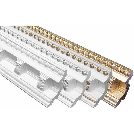 profilés en stuc moulures décoratives | EPS | rigide | Marbet | 71x70mm | B-23
