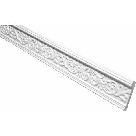 profilés en stuc moulures ornementales | EPS | rigide | Marbet | 41x66mm | B-18