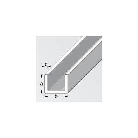 da 2 mt. Profili in pvc bianco a doppia U mm 12x13x12x1