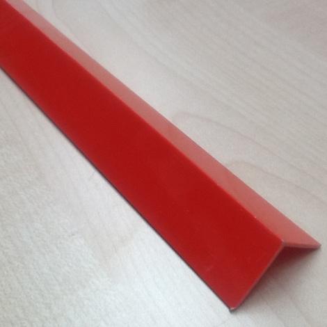 Profili pvc rosso vivace angolare mm 20x20x1 - da 2,60 mt.