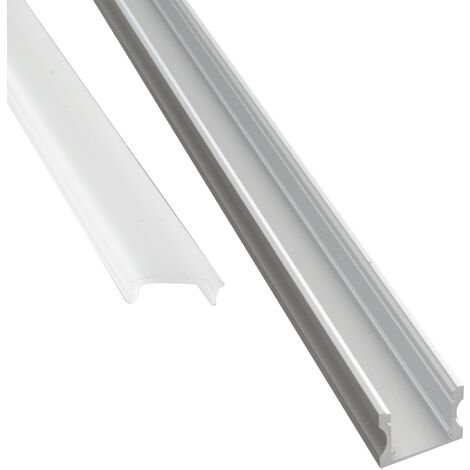 "main image of ""Profilo alluminio 2m U HIGH superfici piane strisce LED barra rigida cover opaca"""